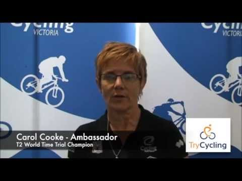 TryCycling Ambassador Carol Cooke