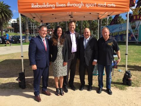 John Eren MP, Tim Pallas MP, Christine Couzens MP, Peter Cullen Reclink Founder & John Ballis Reclink CEO