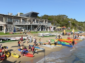 The Reclink Great Peninsula Paddle is a fun day out on the water at the Sorrento Foreshore that helps raise money for disadvantaged people living on the Peninsula